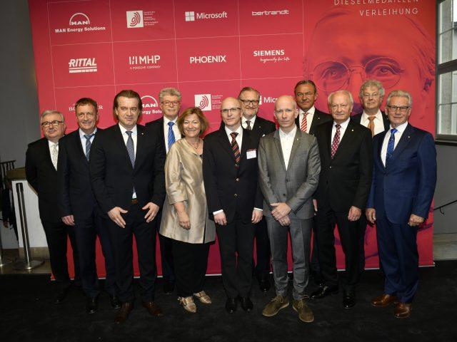 Die Gewinner der Dieselmedaillen 2019 : Phoenix Contact, Wittenstein, GEOlino und AZO Anwendungszentrum Oberpfaffenhofen