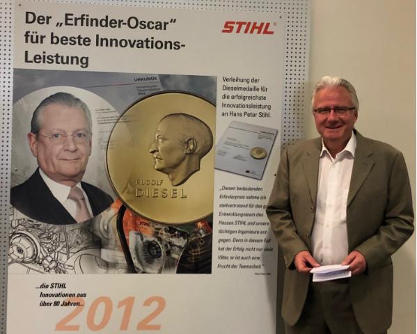 Wolfgang Zahn ist neuer Botschafter der Dieselmedaille