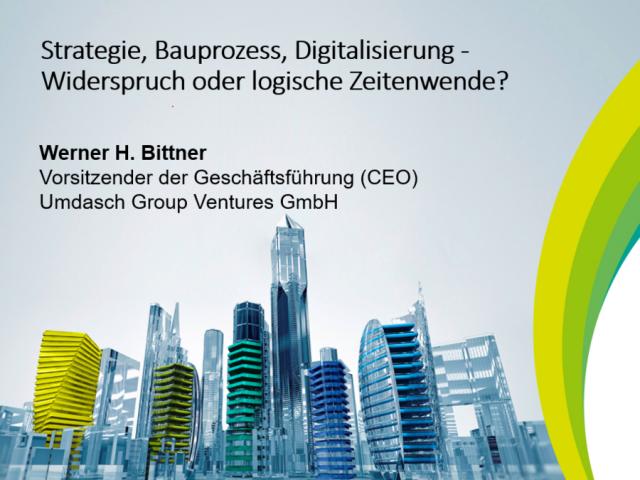 CEO Umdasch Group Ventures Werner Bittner stellt Fallstudie zum IP-Design in der Bauindustrie auf dem CTO-Herbstforum vor