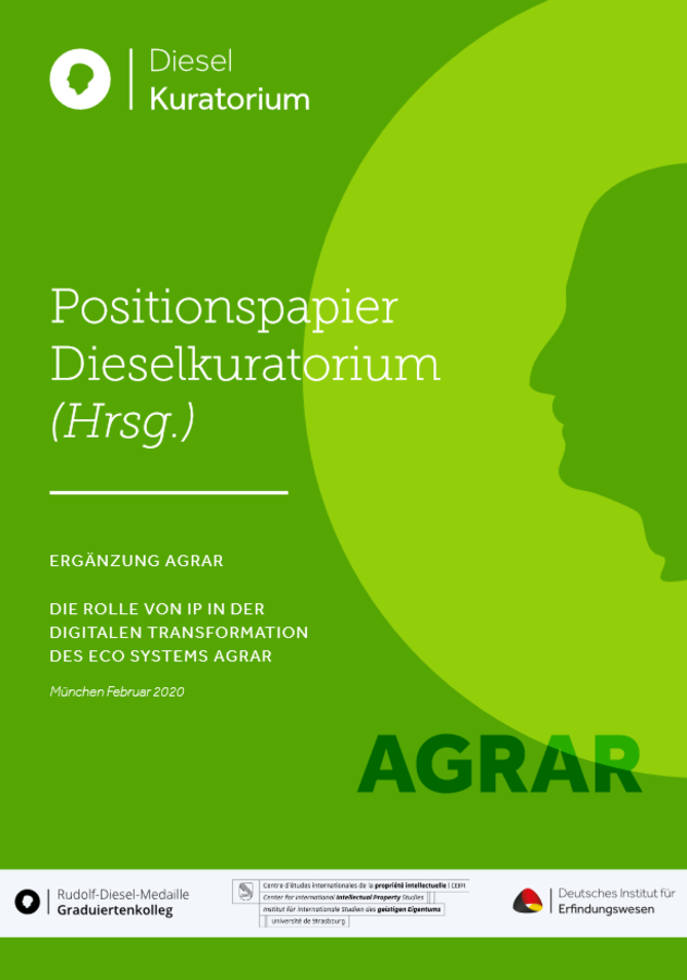 Die Rolle von IP in der digitalen Transformation des Eco-Systems Agrar: Positionspapier